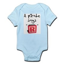 "A pirate says ""R"" Infant Bodysuit"
