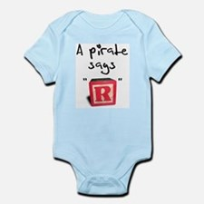 """A pirate says """"R"""" Infant Bodysuit"""