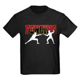 Fencing Kids T-shirts (Dark)