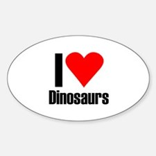 I love dinosaurs Oval Decal