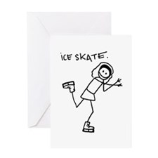 Skating (w) Greeting Card