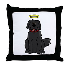 Newfie - Angel - Throw Pillow