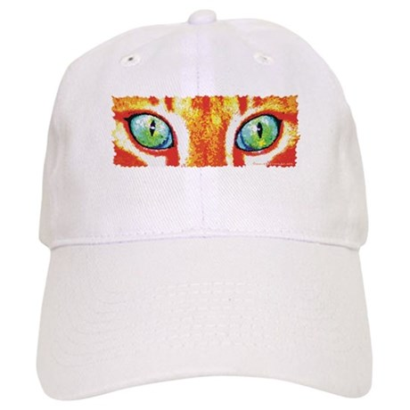 Orange Cat Eyes Cap