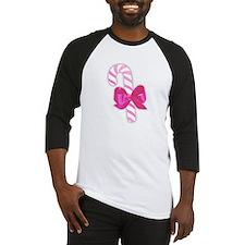 Pastel Pink Candy Cane Baseball Jersey