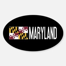 Maryland: Marylander Flag & Marylan Sticker (Oval)