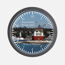 Round Island Passage Lights Wall Clock