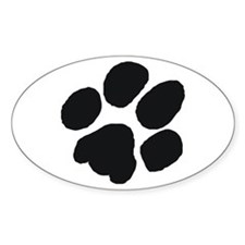 Pawprint Oval Decal