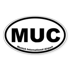 Munich International Airport Oval Bumper Stickers