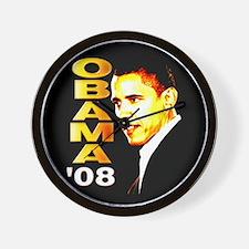 Obama 08 Wall Clock