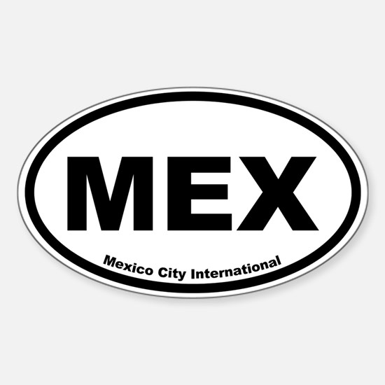 Mexico City International Oval Decal