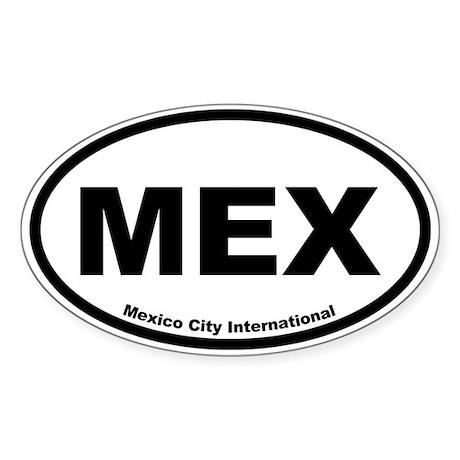 Mexico City International Oval Sticker