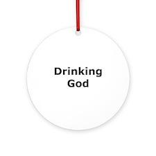 Drinking God Ornament (Round)