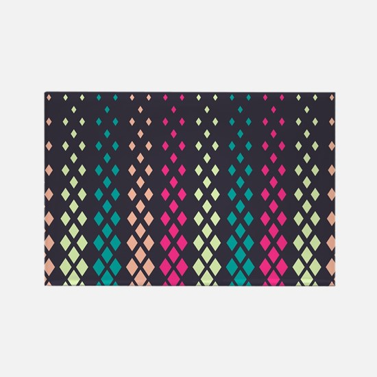 Geometric Pattern Rectangle Magnet