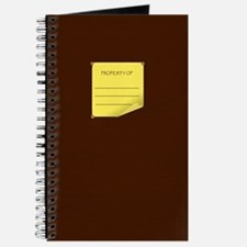 Brown Leather Look Journal with Yellow Sticky not