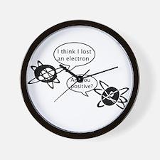 Atoms & Electrons Wall Clock