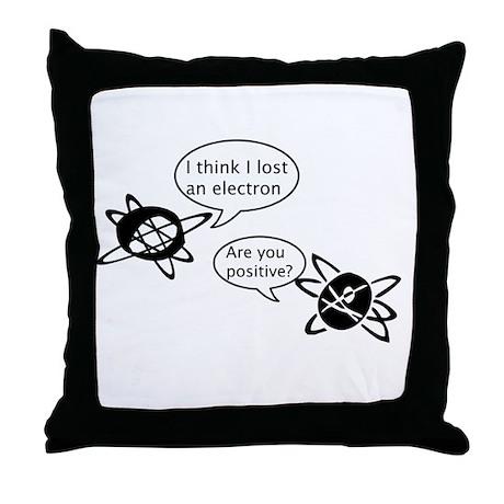 Atoms & Electrons Throw Pillow