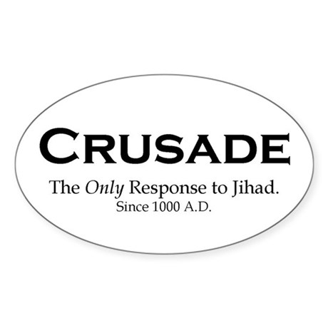 Crusades Oval Sticker