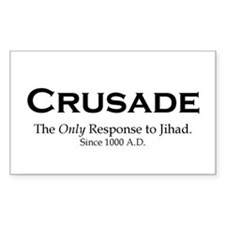 Crusades Rectangle Decal