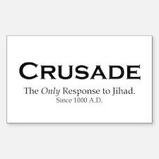 Crusades Rectangle Decal