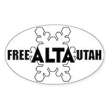 Free Alta Utah Oval Decal