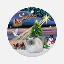 Xmas Magic & Himalayan cat Ornament (Round)