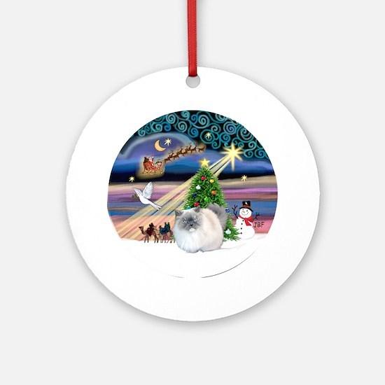 Xmas Magic & Himalayan cat Ornament (Round)