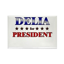 DELIA for president Rectangle Magnet