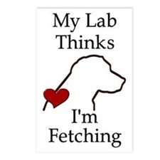 My Lab Thinks.... Postcards (Package of 8)