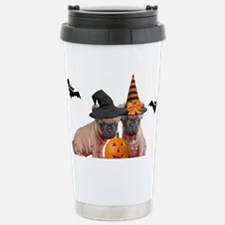 Halloween French Bulldo Travel Mug