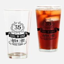 35th Anniversary Drinking Glass