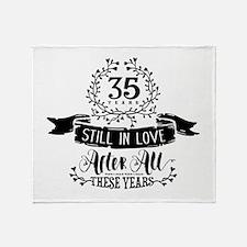 35th Anniversary Throw Blanket