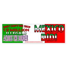 12 Million Illegals Bumper Bumper Sticker