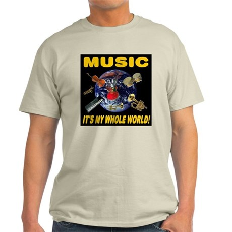 Music Instruments In Space 20 Light T-Shirt