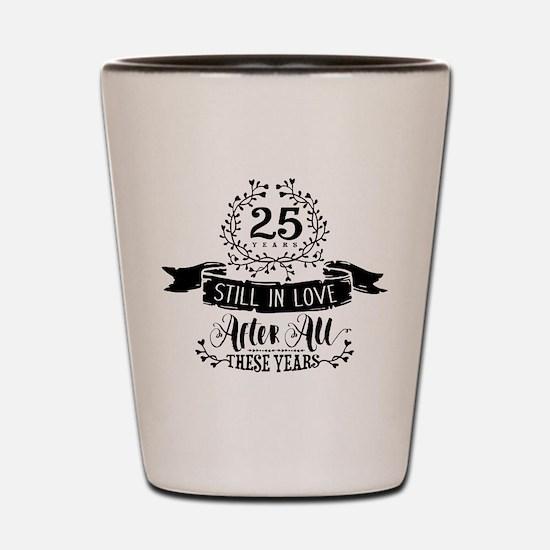 25th Anniversary Shot Glass