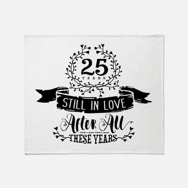 25th Anniversary Throw Blanket