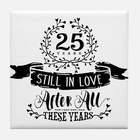 25th Anniversary Tile Coaster