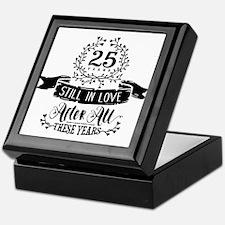 25th Anniversary Keepsake Box