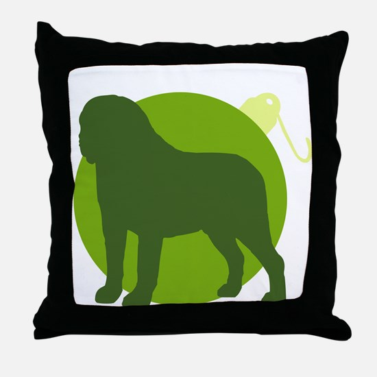 Saint Bernard Ornament Throw Pillow