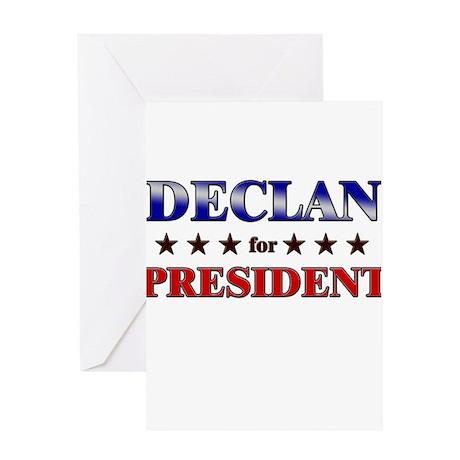DECLAN for president Greeting Card