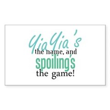 YiaYia's the Name! Rectangle Decal