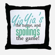 YiaYia's the Name! Throw Pillow