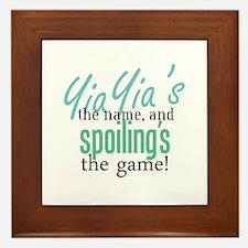 YiaYia's the Name! Framed Tile