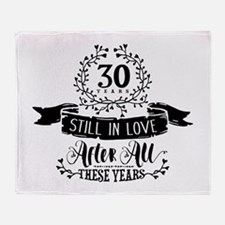 30th Anniversary Throw Blanket