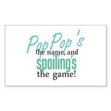 Pop Pop's the Name! Rectangle Decal