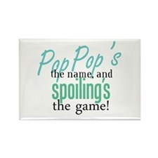 Pop Pop's the Name! Rectangle Magnet