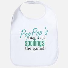 Pop Pop's the Name! Bib
