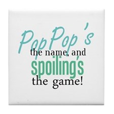 Pop Pop's the Name! Tile Coaster