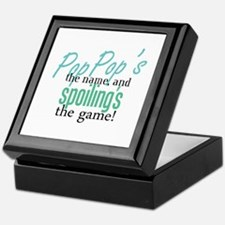 Pop Pop's the Name! Keepsake Box