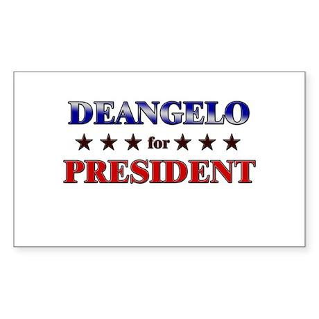 DEANGELO for president Rectangle Sticker