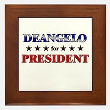 DEANGELO for president Framed Tile